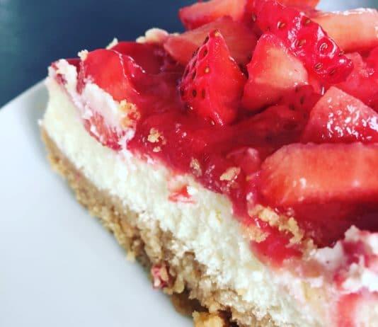 New York Cheesecake... für diesen Kuchen könnte ich sterben! So lecker... vor allem mit Erdbeeren!
