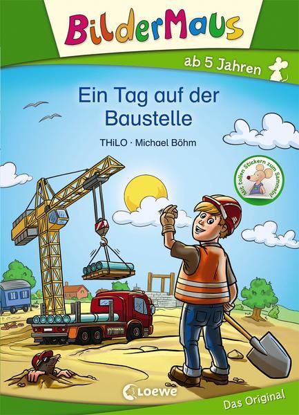 Ein Tag auf der Baustelle ist ein wunderschönes Buch für klene Bauarbeiter um ihre ersten Leseerfahrungen sammeln zu können.